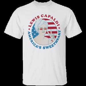 Men/'s LEWIS CAPALDI AMERICA/'S SWEETHEART White T-shirt M-XXXL