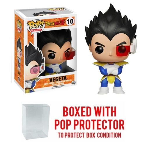 Funko Pop Animation Dragon Ball Z VEGETA #10 Vinyl Figure w//Protector Case