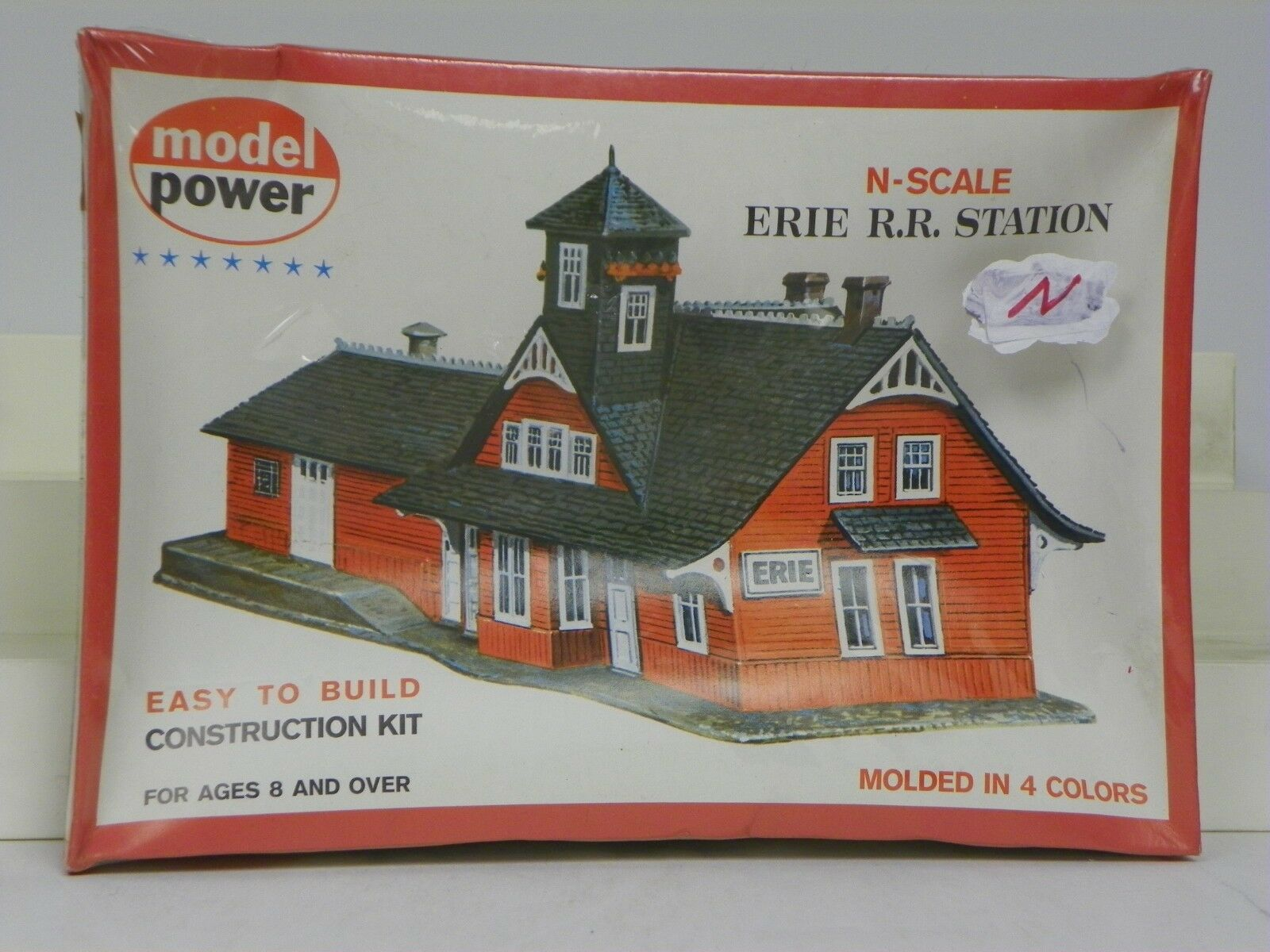MODEL POWER N SCALE U A  ERIE R.R. STATION  PLASTIC MODEL KIT