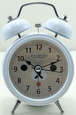 Silent San-X Rilakkuma Bear Children Desktop Light Twin Bell Alarm Clock