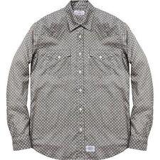 SUPREME Levis Western Shirt Grey XL Box Logo 2012 safari camp cap camels F/W 12