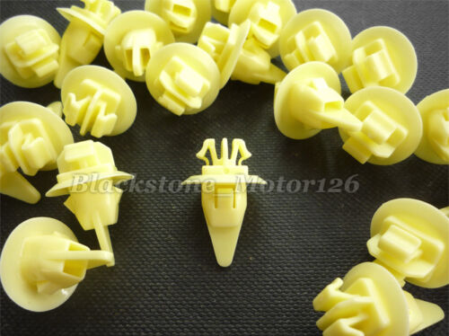 20 Fender Wheel Flare Moulding Clip Yellow Nylon A20429 For Toyota 90467-11100