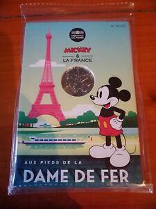 10-euros-Argent-Mickey-2018-n-1-Aux-pieds-de-la-dame-de-fer-Tour-Eiffel