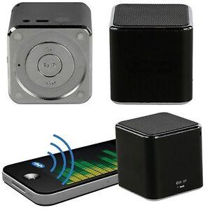 bluetooth lautsprecher mini mp3 player f r handy smartphone iphone ipad box akku ebay. Black Bedroom Furniture Sets. Home Design Ideas