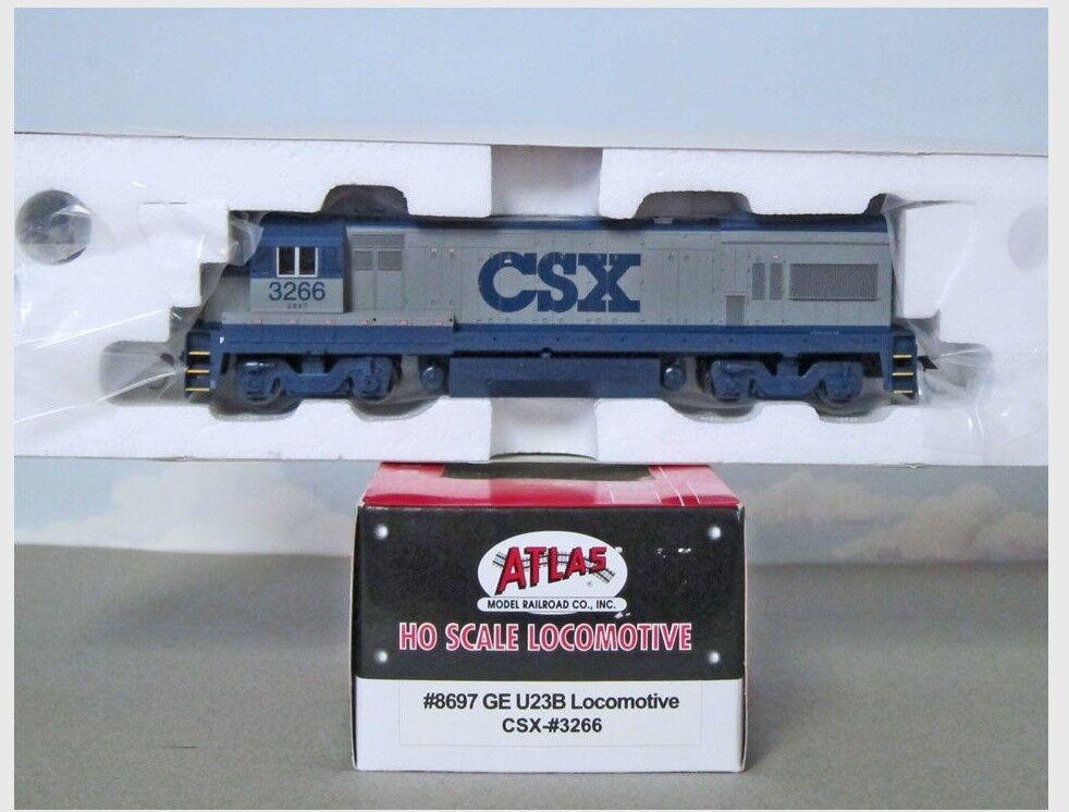 Venta al por mayor barato y de alta calidad. Atlas  8697 locomotora diesel HO Scale CSX U23B U23B U23B  100% a estrenar con calidad original.