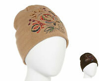 Jcp Mixit Womens Cold Weather Culture Clash Embroidered Wear 2 Ways Beanie