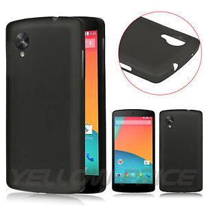 LG-Google-Nexus-5-D820-D821-Case-Black-Durable-TPU-Soft-Cover-Matte-Back-Pouch