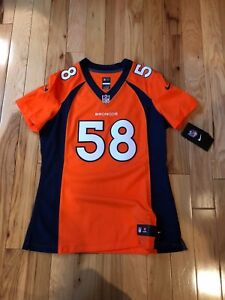 VON MILLER WOMEN S Denver Broncos Nike Orange Limited Jersey MEDIUM ... 4d95d268d