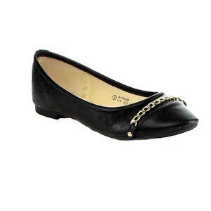 74f27241b06025 Bella Marie DANA-8 Women Comfy Chain Pointy Toe Ballet Flat Slip On ...