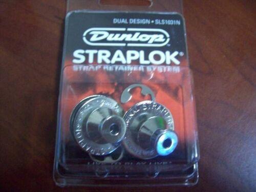 #SLS1031N NEW 2 Dunlop Dual Design Strap Lock System - NICKEL