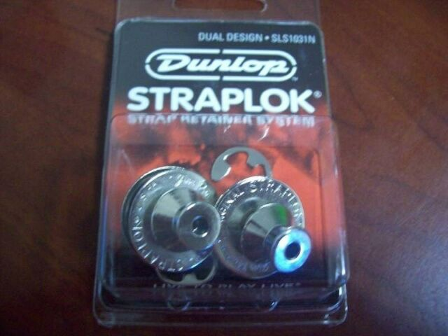 *NEW* SLS1031N NICKEL DUNLOP® DUAL DESIGN STRAP LOCKS GUITAR /& BASS STRAPLOCK