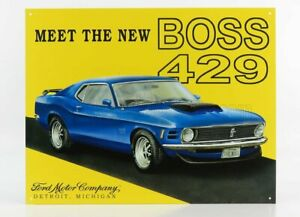 EDICOLA 1/1 ACCESSORIES   METAL PLATE - FORD MUSTANG BOSS 429   YELLOW BLUE