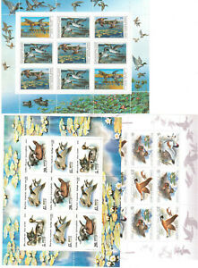 RUSSIA. SOVIET UNION 3 MINI SHEETS MNH** BIRDS