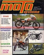 MOTOCYCLISME 64 DUCATI 750 SS MAICO BULTACO GUZZI SAARINEN PASOLINI Salon 1974