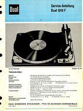 Dual Service Manual para Phono 1010 F