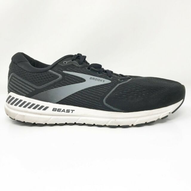 Brooks Mens Beast 20 1103271D051 Black Running Shoes Lace Up Low Top Size 12.5 D