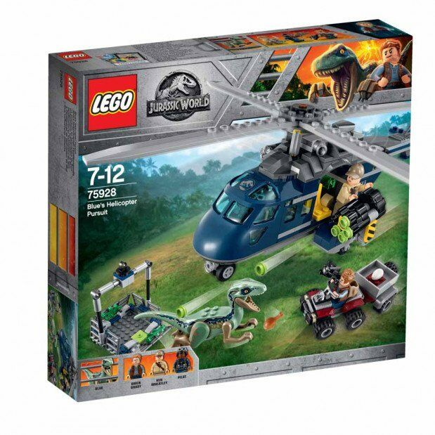 LEGO JURASSIC WORLD INSEGUIMENTO SULL' ELICOTTERO DI Blau  7-12 ANNI ART  75928