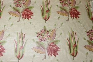 Zoffany Desert Flower Curtain Fabric Zapr06004 100 Linen
