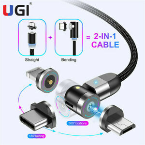 540-Magnetic-Cable-LED-Type-C-Micro-USB-Charger-Cord-For-IOS-Android-Phone-1-2m