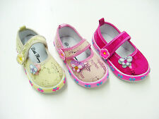 Cute Baby Girl Buckle Flower Tennis Shoes with Candy Scent Size 2-7