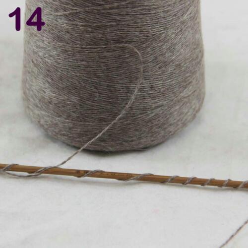 100 g Cône 100/% cachemire Main Tricot Crochet Wrap écharpe châle fil kaki 14