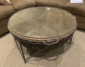 Details About African Drum Coffee Table Original From Africa With Gl Top