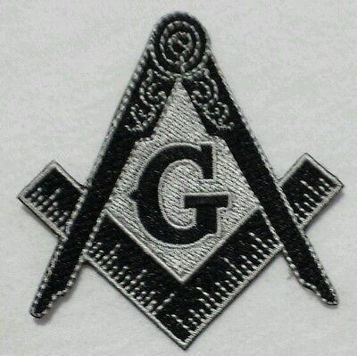 Freemason Masonic Black and Grey Iron on Patch