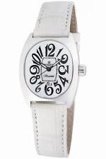 Montres De Luxe Women's B13-AC-QZ-BIA-A Bisanzio Luminous White Leather Watch