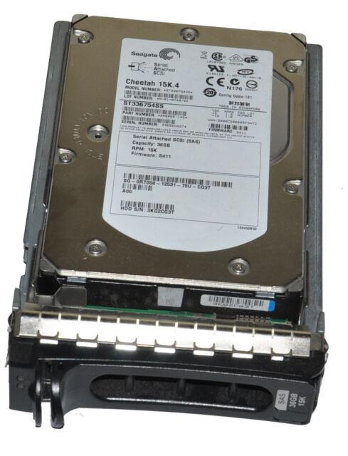 Dell Seagate Cheetah 15K.4 ST336754SS 36GB SAS Hard Drive w/ Tray 0RT058