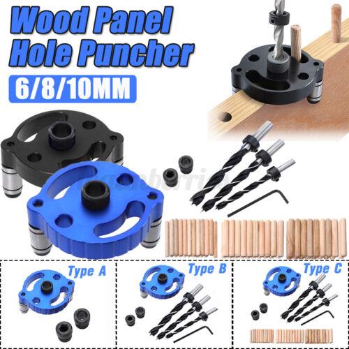 6//8//10mm Dowel Jig Wood Panel Puncher Hole Locators Woodworking Guide Too L