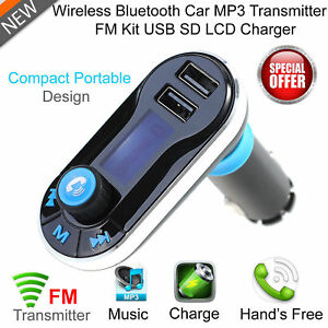 Wireless bluetooth car kit fm transmitter radio mp3 music - Lettore musicale wifi ...