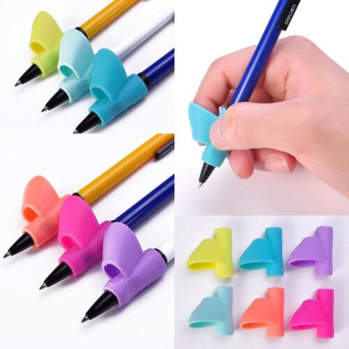 3PCS Children Pencil Holder Pen Writing Aid Grip Posture Correction Device Kits