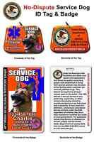 Service Dog Id Tag And Badge Combo Custom Photo Id For Pet Orange