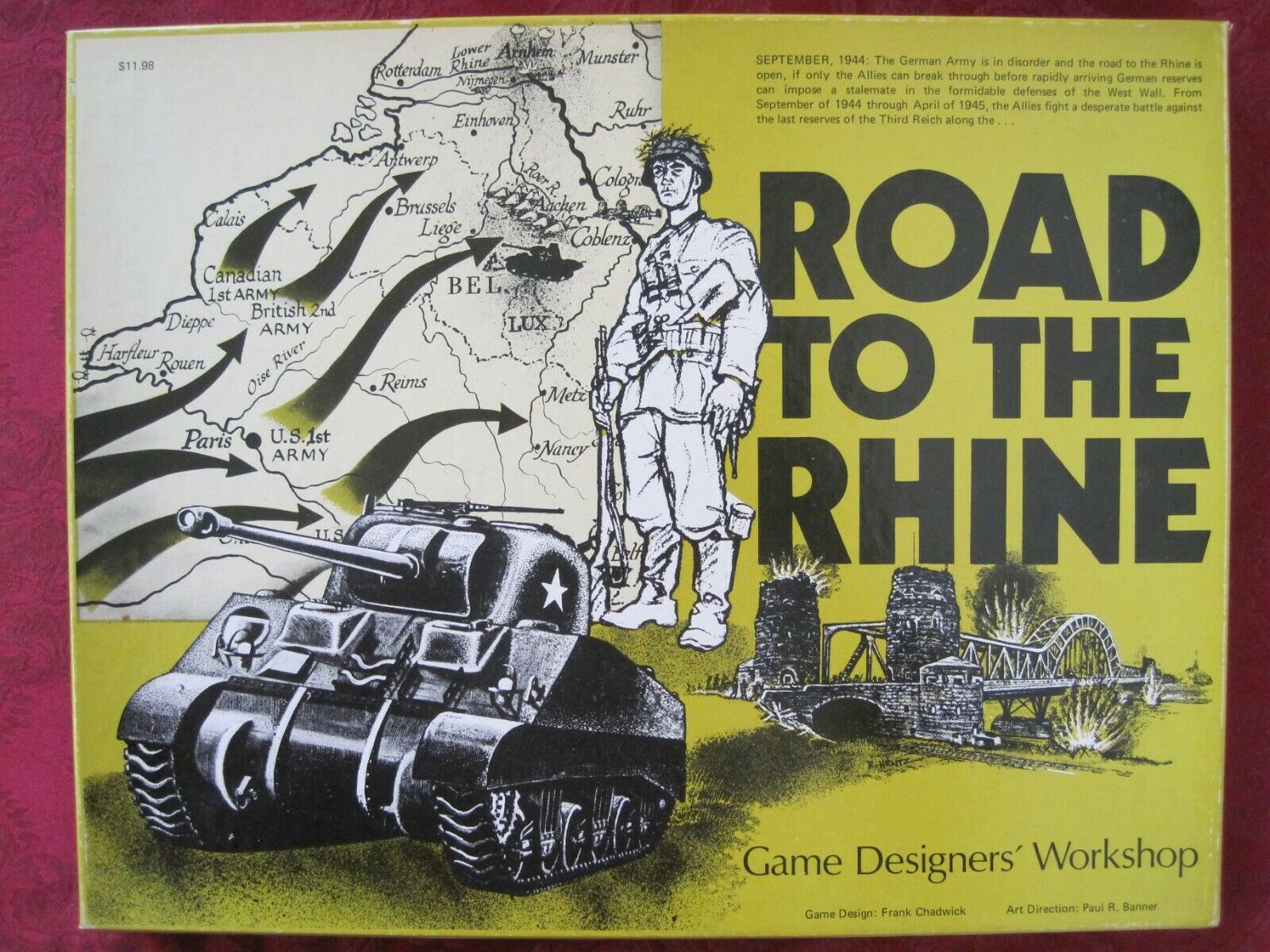 Road to the Rhine. Very Good Condition. Complete & 75% Unpunched + Add. Feature