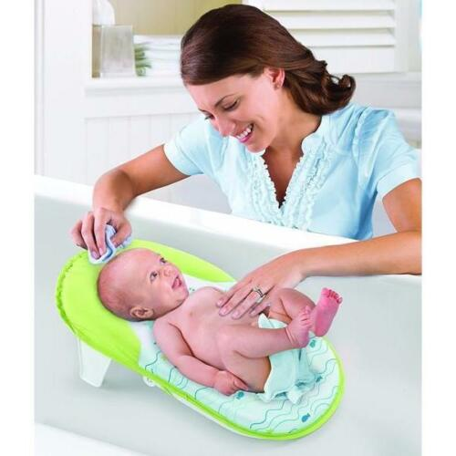 New Fold /& Store Bath Sling Compact Baby Seat Support Infant Bather Safety Mat
