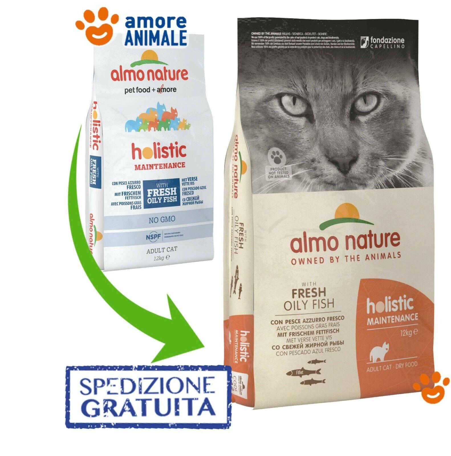 Almo Nature Holistic Cat Adult – Pesce Azzurro e Riso 12 Kg ^ Crocchette gatti