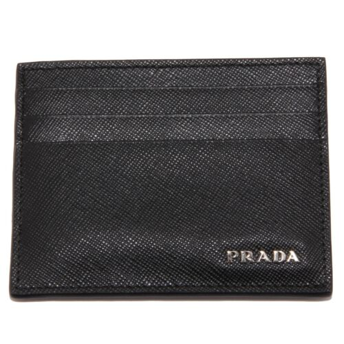 7975U porta carte di credito PRADA pelle saffiano leather credit card wallet
