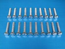 """20 Pack. 1/4 x 1 1/2"""" BSF Bolts (Setscrews) High Tensile Steel, BZP"""
