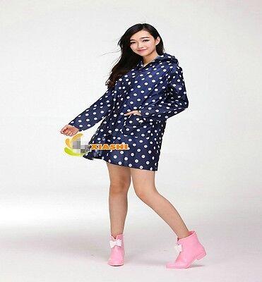 Women's Rain Cover Raincoat  Rain Waterproof Poncho Camping Outdoor Pretty LG