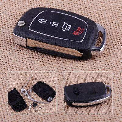 4 Button Replace Flip Remote Key Fob Case Shell Fit for Hyundai Fe ix45 ix35 i30