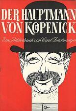 Souvenirprogramm    Original 1956   DER HAUPTMANN VON KÖPENICK   Heinz Rühmann