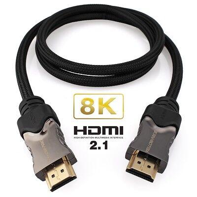 4k @ 120Hz 48GBit//s High Speed UHD 1m HDMI 2.1 Kabel 8k @ 60Hz