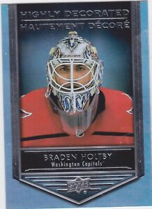 19/20 TIM HORTONS...BRADEN HOLTBY...HIGHLY DECORATED...CARD # HD-14...CAPITALS