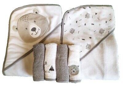 Baby Geschenkset 2st Kapuzenbadetuch Badetuch Kinder Handtuch Geschenk  1870Blau
