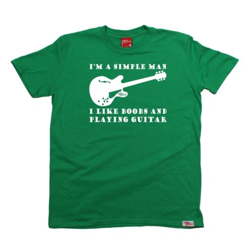 Music I Like Boobs And Guitar Adult Rude Band group retro funny Birthday T-SHIRT