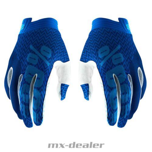 100/% Prozent ITRACK 2019 blau Handschuhe MTB DH MX BMX Motocross Enduro Quad