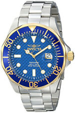 Invicta Men's Pro Diver Gold and Blue Quartz 3 Hand Blue Dial Watch 12566