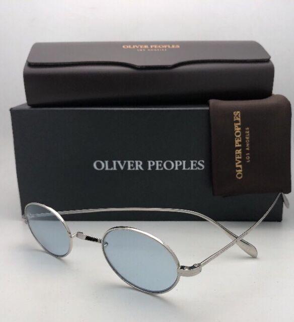 1cbc69a34e9d New OLIVER PEOPLES Eyeglasses CALIDOR OV 1185 5286 43-24 Silver Frame Blue  Wash