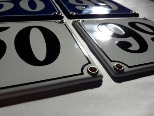 Emaille Hausnummer 69 Blau Weiß Hausschild Email Emailleschild Emailschild Nr.