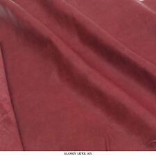 Lammleder 0,8 mm Dick Vintage Antik Design Nappa Rot Echt Leder Haut Leather V87